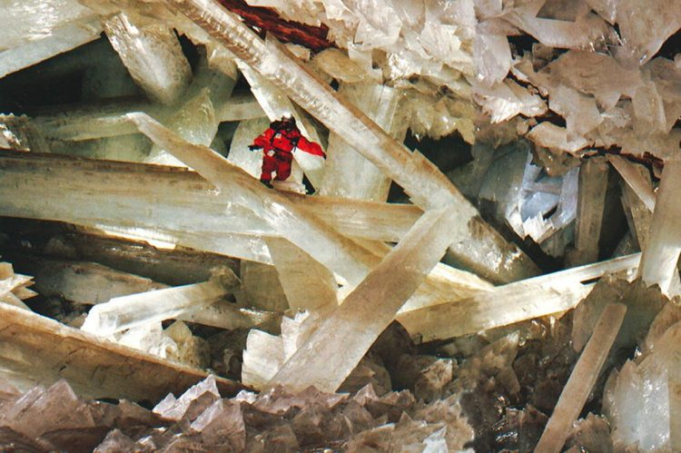 The Giant Crystal Cave is an amazing cave connected to the Naica Mine at a depth of 300 metres, in Naica, Chihuahua, Mexico.