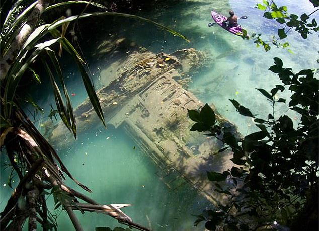 WWII Long Lost Airplane Discovered on the Riverbed of a Remote Pacific island