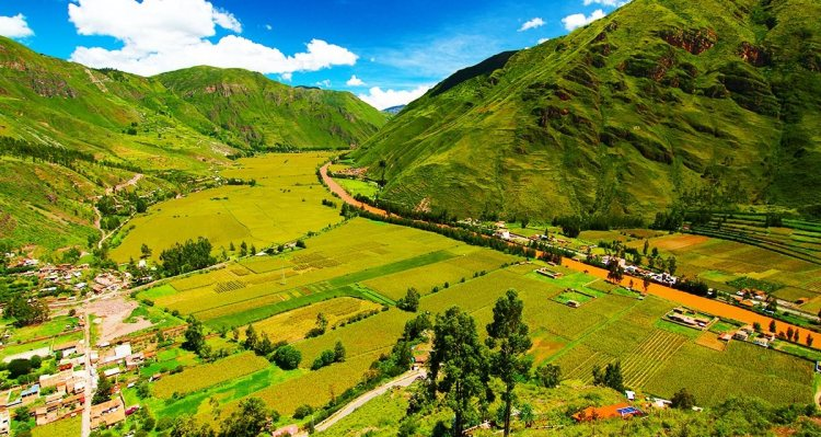 The Sacred Valley of the Incas is also called Urubamba Valley is a valley in the Andes of Peru, 20km at its closest north of the Inca capital of Cusco.