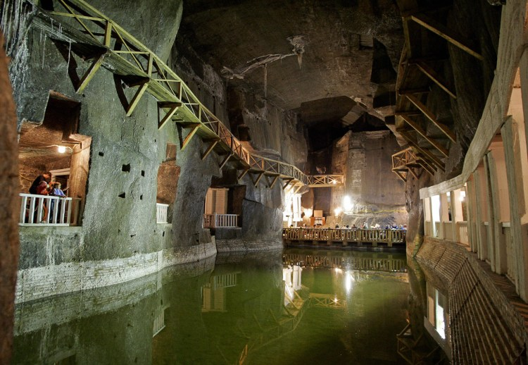 More than 800 years of working, it now has a character of an underground town where tourist can take a ride by the underground train, slide down the world's longest underground slide and take an underground ferry ride crossing the brine lake flooding the chamber.