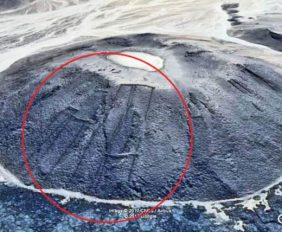 The stone structures- which were found using Google Earth - have been dubbed the 'gates' because they appear to look like field gates from above.