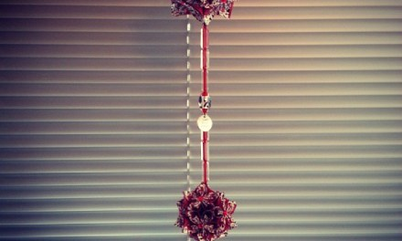 Origami: flower balls decoration