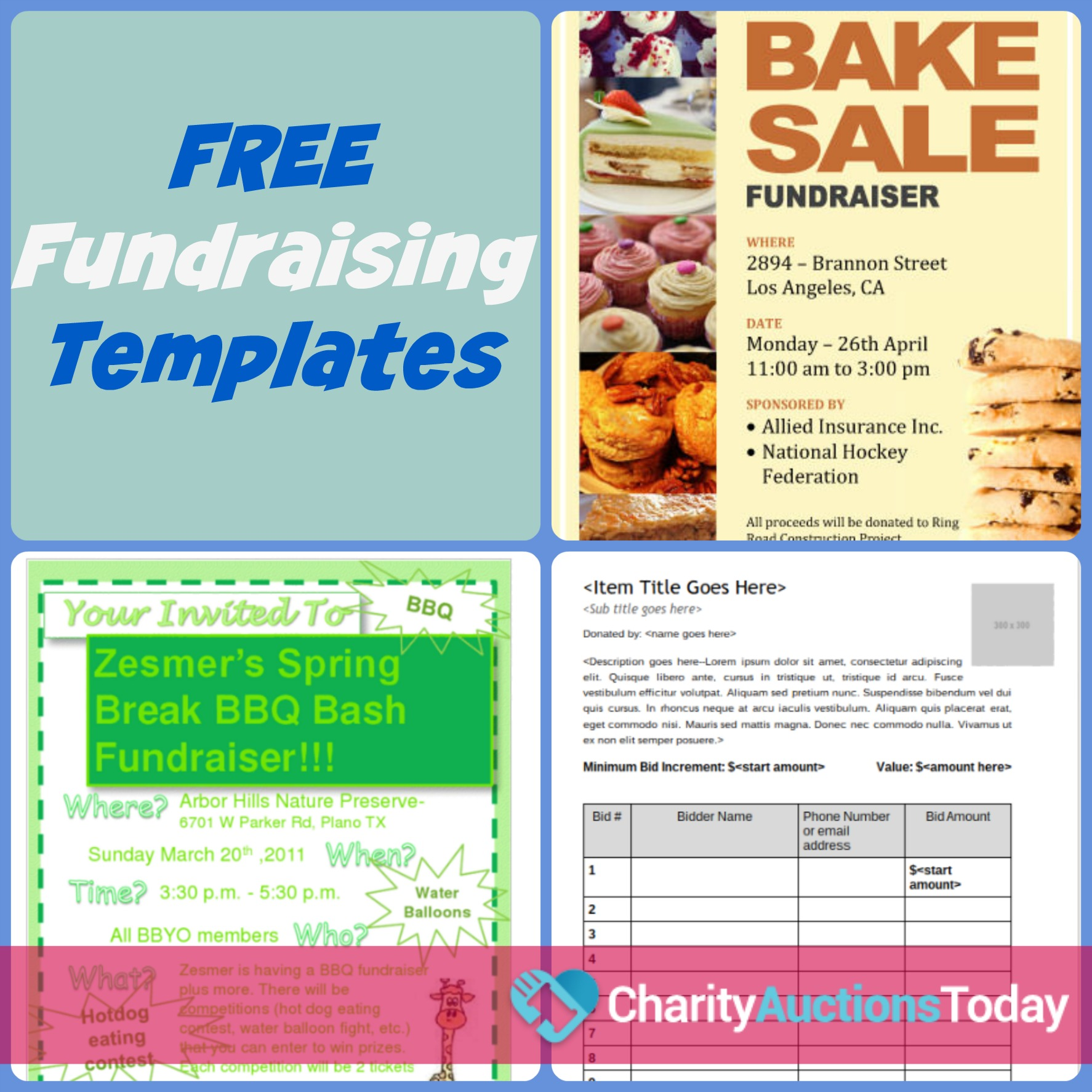 Free Fundraiser Flyer Charity Auctions Today
