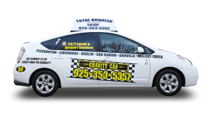 image of eco friendly taxi in sunol by charity cab
