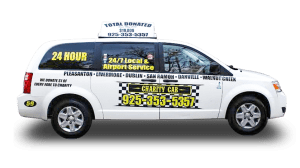 example of charity cab's van for taxi in sunol, ca service