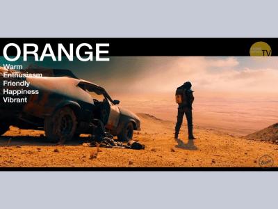 The colour orange on film