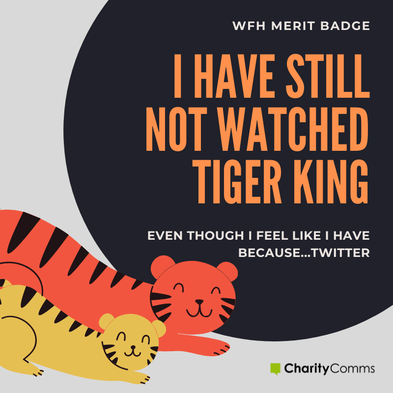 working from home merit badge tiger king