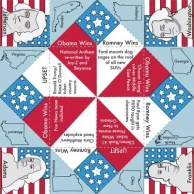 Election Day Cootie Catcher Game 2012