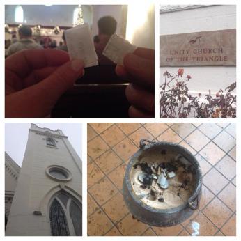 Unity Church of the Triangle Burning Bowl Cermony
