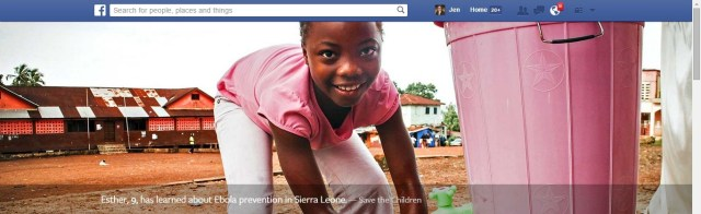 Facebook Ebola Campaign