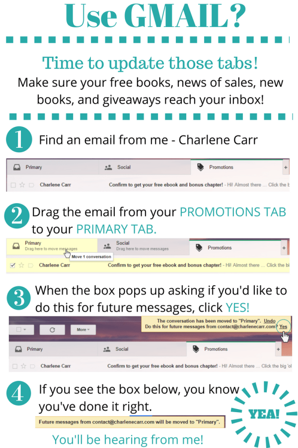 Charlene Carr Update Tabs in Promotions Folder