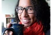 Charlene Carr drinking tea