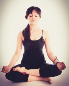 woman yoga mindfulness peace