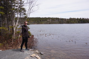 Dr. Laura Nurse Naturopathic Doctor standing by a river