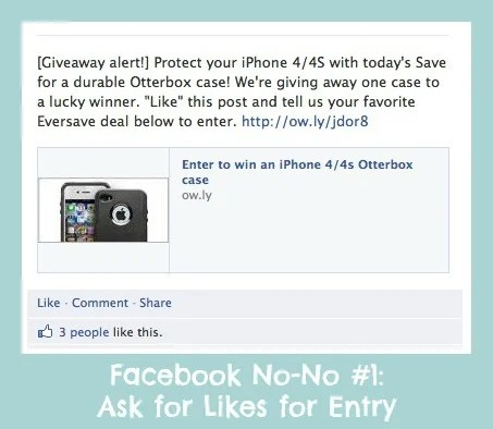 facebook contest rules