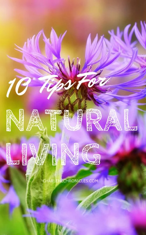 Here are 10 tips for a natural living lifestyle from CharleneChronicles.com
