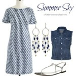 Denim Vest, T-Shirt Dress: Better Together