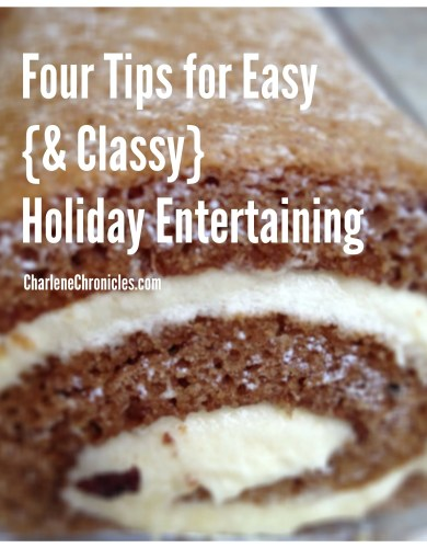 tips for easy holiday entertaining