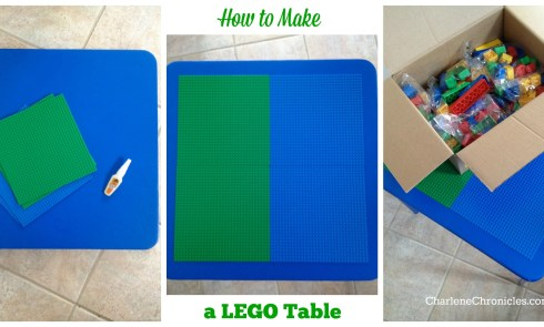 Lego Table DYI Charlene Chronicles