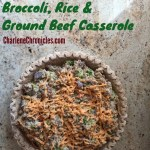 Broccoli Rice and Ground Beef Casserole Pie