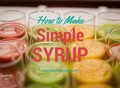 how to make simple syrup
