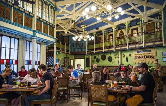 The Jungle Navigation Co. Ltd. Skipper Canteen restaurant at Magic Kingdom Park features a menu full of Asian, South American and African cuisine inspired by the flavors of the rivers found on the nearby Jungle Cruise attraction. This table service restaurant is staffed by the wise-cracking crew of the Jungle Cruise and is open for lunch and dinner. Magic Kingdom Park is one of four theme parks at Walt Disney World Resort located in Lake Buena Vista, Fla. (Matt Stroshane, photographer)