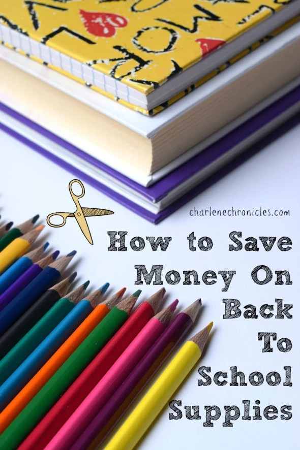 how to save money back to school supplies