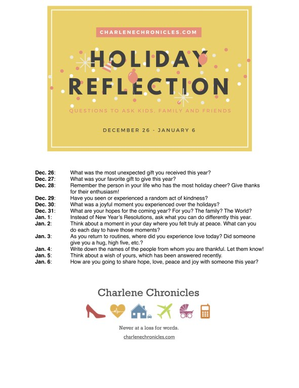 New Year's Reflection Questions