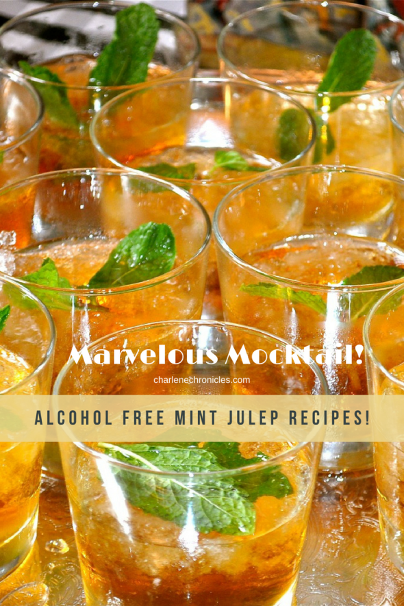 Easy mocktail mint julep recipe on CharleneChronicles to make at your next party. Perfect for a Kentucky Derby Party or a spring and summer baby shower