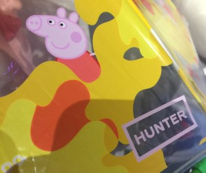 peppa pig hunter boots