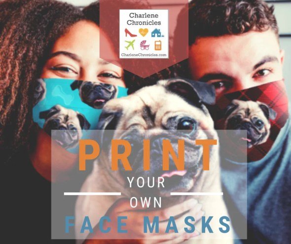 Printable Custom DIY Face Masks