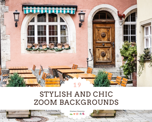 chic and stylish Zoom backgrounds