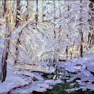 plein air studio oil paintings by Charlene Marsh 011216 12x12 _plein_air_oil_painting_charlene_marsh_frozen_beauty