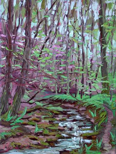 Spring Plein Air Forest Plein air oil painting spring in the forest