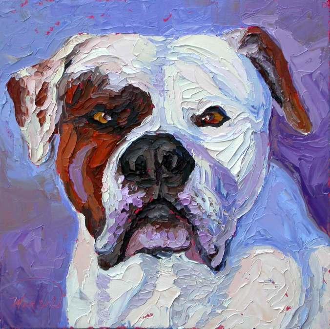 animals pet portraits plein air studio oil paintings by Charlene Marsh pet portrait animal oil painting