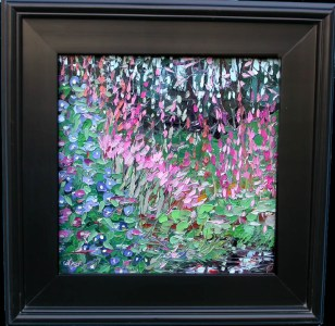 020716 S 12x12 Morning Glories and Magic Lilies oil painting Charlene Marsh