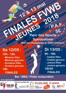 Affiche Finales FVWB Jeunes 2018