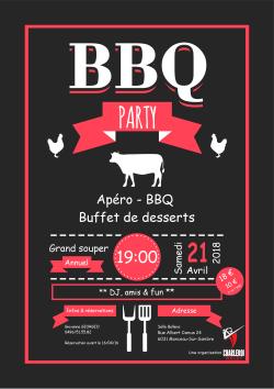 Affiche Souper Annuel 2018 - Barbecue Party