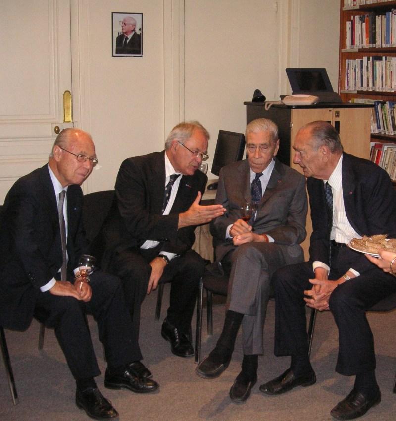 Visite privée de Jacques Chirac à la Fondation Charles de Gaulle, le 18 septembre 2012.