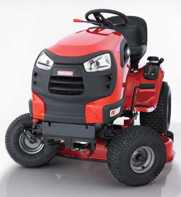 Craftsman Lawn Tractor Does Cut Corners