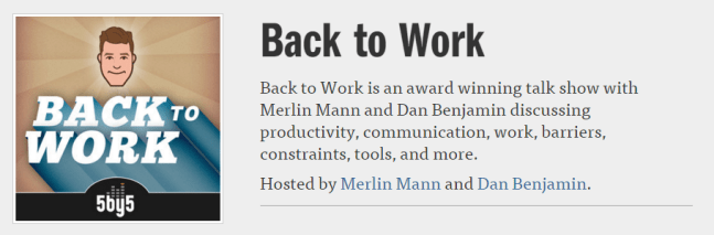 Back to Work podcast logo