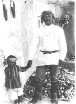 Father and son in Acoma, photographed by Lummis in 1891. Courtesy of the Southwest Museum, Los Angeles, no. N30540.