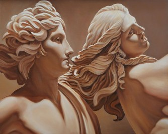 Daphne and Apolo after Bernini sculpture, detail