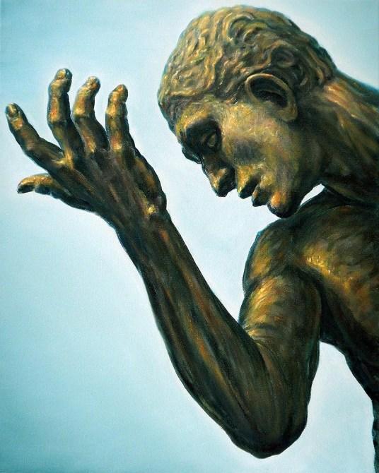 Berger of Calais after Rodin, detail