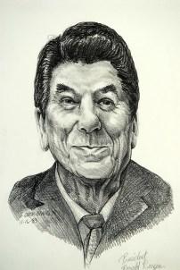President Reagan, pencil