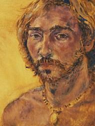 Self portrait, oil on canvas, 1975.