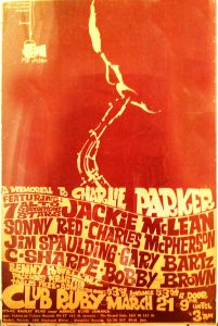Concert poster with Charles McPherson.