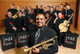 Terell Stafford the top college jazz student group, Temple University Big Band.