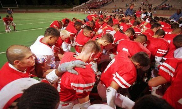 High School football season kicks off with a prayer.