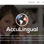 Acculingual - Wordpress website